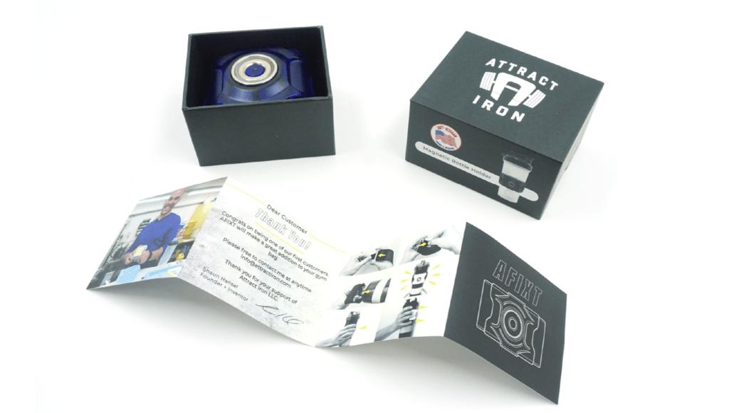 Retail Packaging Box Samples + Brochure Insert